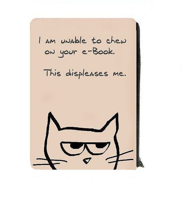 Kindle Cover - Nook, E Reader Case for Cat Lovers.  © Funky Chic Designs Shop: http://www.etsy.com/shop/funkychicdesigns