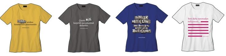 My words on t-shirts by Mavi.