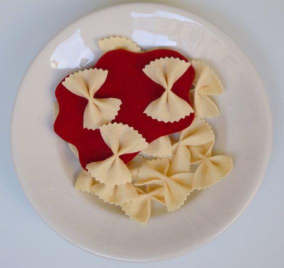 Farfalle al sugo  cibo finto di giochidipanno su Etsy, €9.00