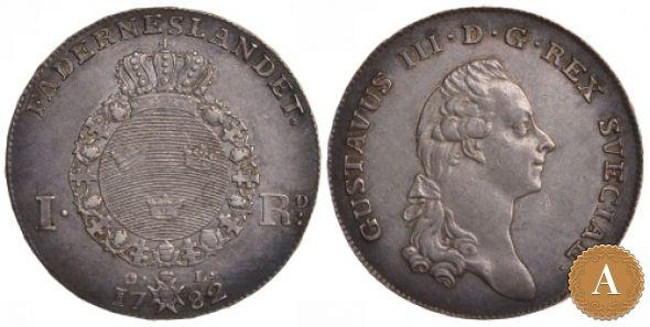 1 РИГСДАЛЕР 1782