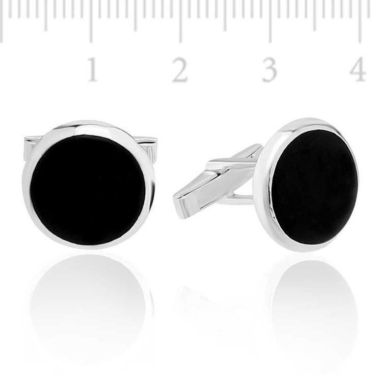 Siyah Gümüş Kol Düğmesi
