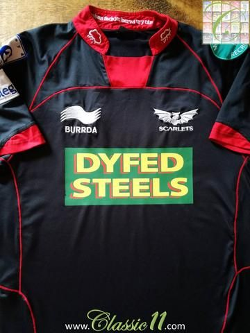Official Burrda Sport Scarlets away rugby shirt from the 2012/2013 season.