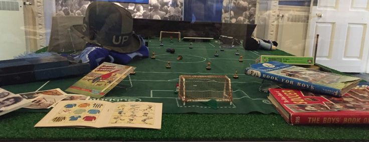 Bishop Auckland FC is the only amateur team to have its own Subbuteo kit. Birth of the Blues exhibition @aucklandcastle 22nd May - 28th September  #Football #NorthernLeague #History #BishopAuckland #FAAmateurCup #Exhibition #AucklandCastle