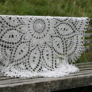 Extra Large Doily Blanket Knit And Crochet Pinterest
