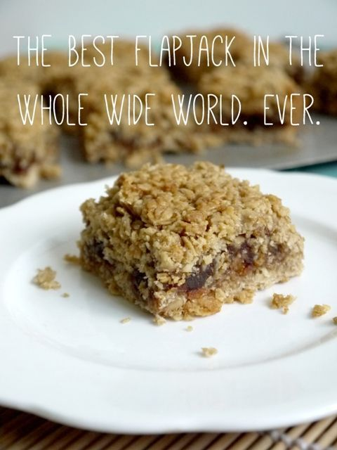 The Best Flapjacks in the Whole Wide World. Ever. It's true, I've never found a flapjack recipe to beat it. The sticky date filling means less sugar needs to be added to the mix so they're a little healthier too :) Janie ~ The Hedgecombers.