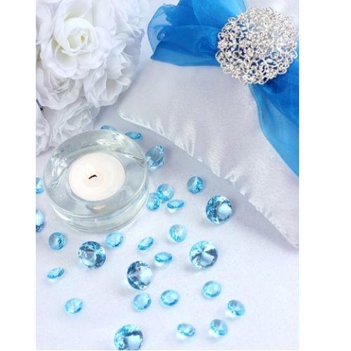 Dekorationsdiamanter - Turkos  #bröllop #bröllopsdekorationer
