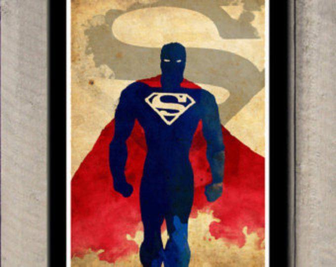 Cartel minimalista superheroe - Superman