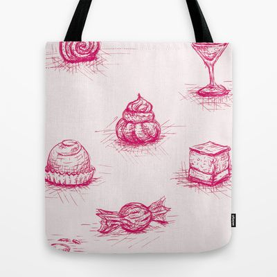 Sweet Tote Bag by Fru Kuhari - $22.00