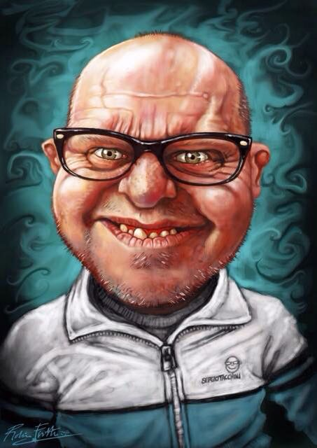 Ray Tizzard. #caricature  Note the detail on the tracksuit logo, it's a tiny Ray. That's dedication.