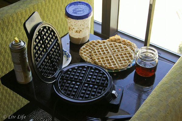 Liv Life: DIY Homemade Waffle Mix - aka Hotel Waffles (mix works for pancakes too!)