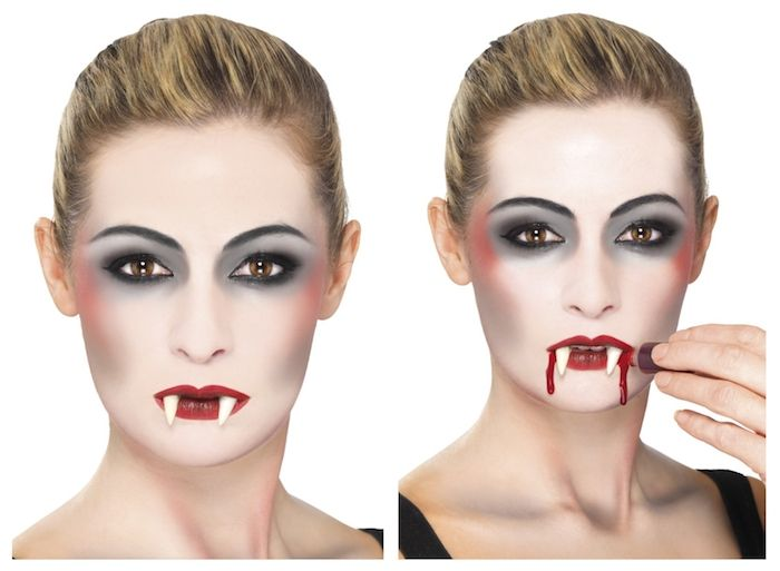Vampirgesicht Schminken 29 Einmalige Ideen Archzine Net Vampir Schminken Vampirgesicht Schminken Vampir Schminken Frau Anleitung