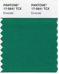 It's official -- Pantone Color of the Year is 17-5641 Emerald #coloroftheyear