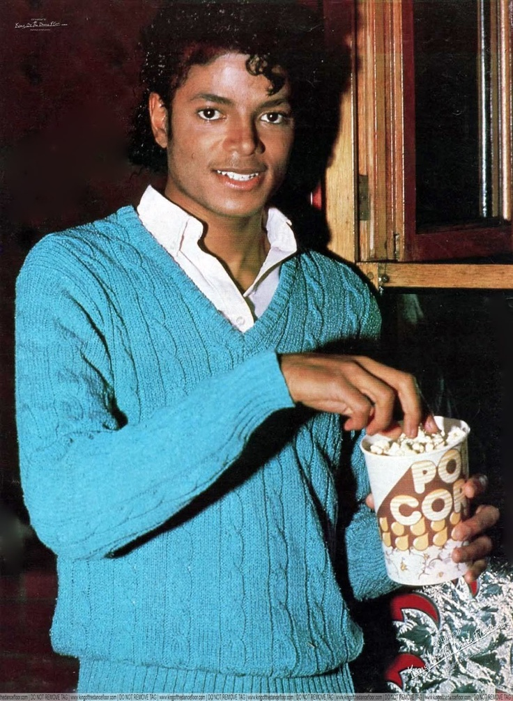 Michael Jackson having some popcorn