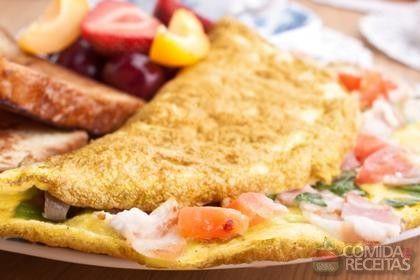 Receita de Omelete de microondas - Comida e Receitas