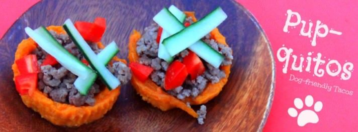 Sweet potatoes and ground beef are sure to please your party pooch. Photo Courtesy of Cia Emry Fox