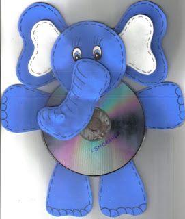 Menina Azul: Reciclar CDs usados e velhos!