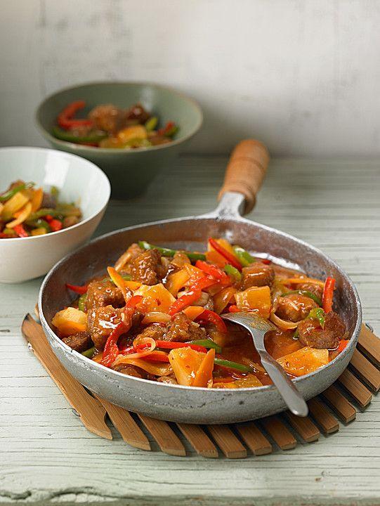 Schweinefleisch süß - sauer, ein schmackhaftes Rezept aus der Kategorie Chinesisch. Bewertungen: 71. Durchschnitt: Ø 4,3.