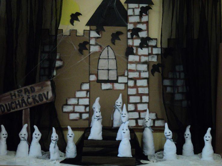 Hrad Ducháčkov - duchové (ruční šití dětí)