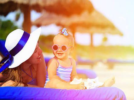 Viagem com bebê para resort