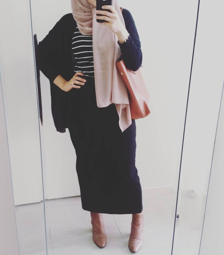 Pencil maxi skirt and striprd top - check out: Esma <3