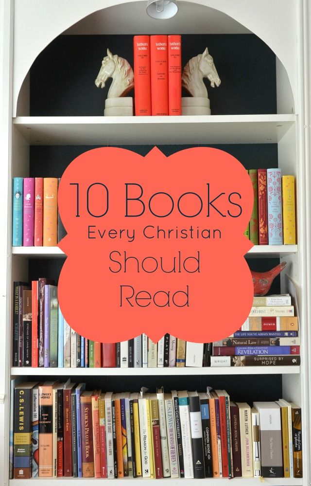 This post on top ten books every Christian should read is challenging but inspiring.  Classics like Mere Christianity and Orthodoxy top the list but you might be surprised at a few of the titles.  Bookmark this post and make a goal for reading! via lifeingrace