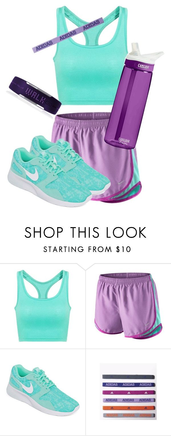 """""""Quick Draft #5"""" by brooklynbeauty18 ❤ liked on Polyvore featuring NIKE, adidas, Polar, nike, Sports, running and quickie"""