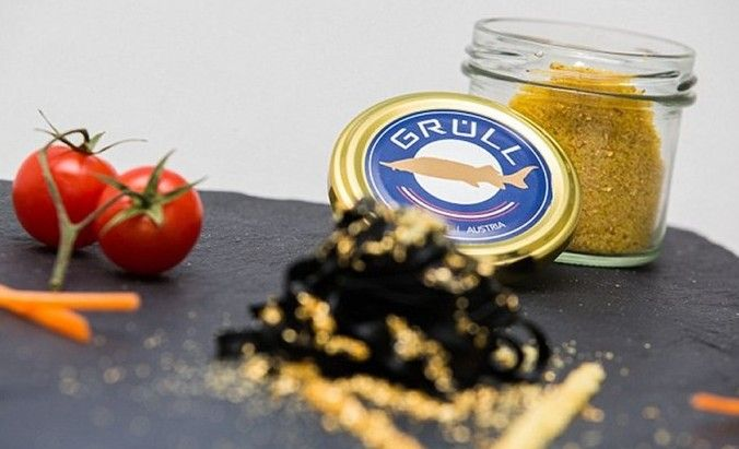 """""""White Gold"""".....a new caviar, known as """"white gold,"""" is taking the whole concept of fish eggs to the next level. While caviar often costs a pretty packet, white gold will set you back around $300,000 for a kilo. The exclusive caviar, invented by fish farmer Walter Gruell and his son Patrick, is made from rare albino fish eggs and is laced with 22-carat gold. That works out at roughly $40,000 per teaspoon!"""