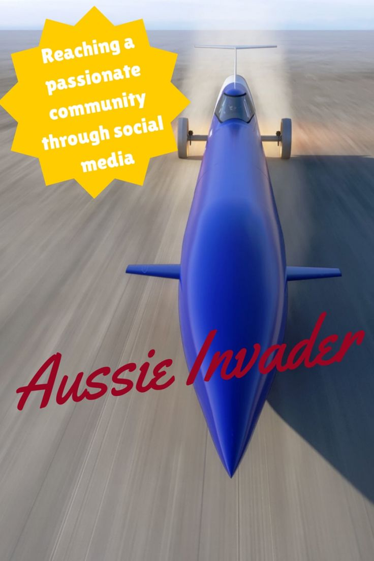 Aussie Invader is one of the amazing clients that I get to work with – it's very much a collaborative approach that we have. What's more, it is such a great cause and story, with plenty of really passionate fans. With over 2600 fans on Facebook, it's pretty darn popular.