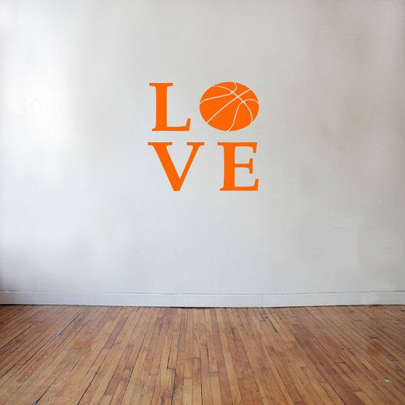 LOVE Basketball Sports Wall Decal sports decal by SportsVinyl, $4.00