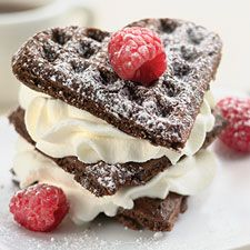 Chocolate Belgian Waffles- Great for breakfast or dessert!: Chocolates Belgian, Sweet, Trifles, Belgian Waffles Recipes, Valentines Day, Desserts Waffles Chocolates, Belgian Chocolates, Chocolates Waffles, Belgium Waffles