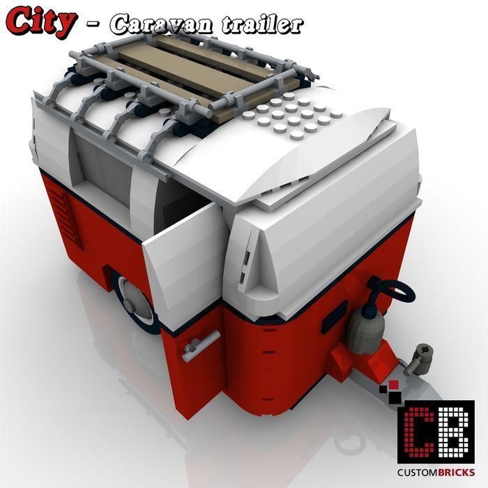 Online veilinghuis Catawiki: Caravan voor Lego 10220 Volkswagen T1 Camper Van (VW Bus)