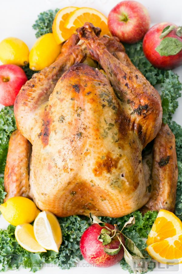 A more traditional Thanksgiving turkey recipe, serve this juicy Roast Turkey alongside other classic sides.