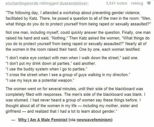 This guy describes feminism in a way I haven't really thought about a lot.