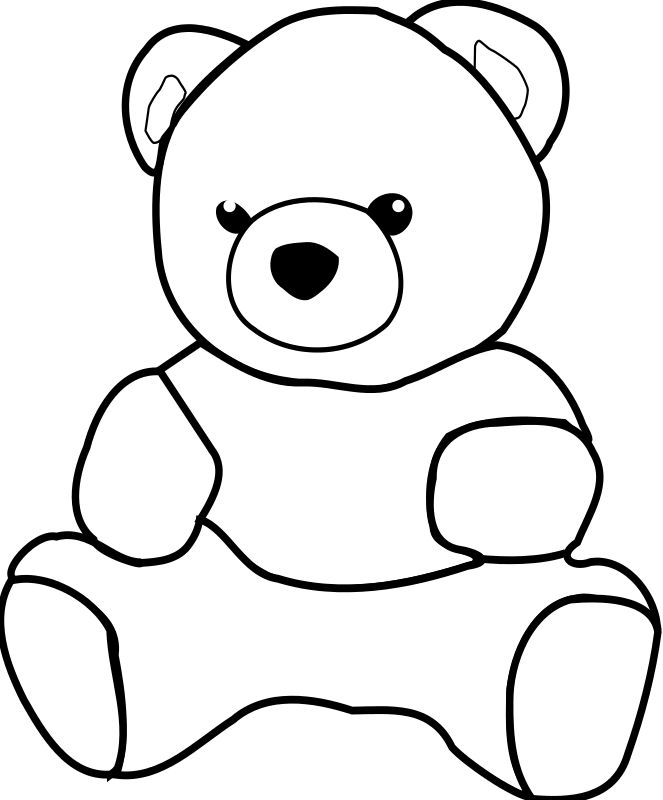Teddy Bear Clipart | teddy bear by dkdlv - Big and drawable teddy bear. Path has been ...