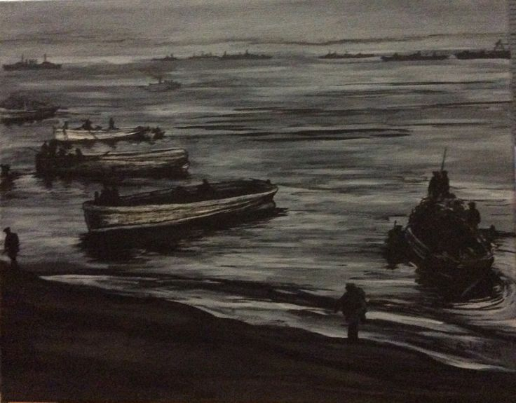 """""""Early Dawn 25th April 1915"""" by Paula Benson from Centenary Collection."""