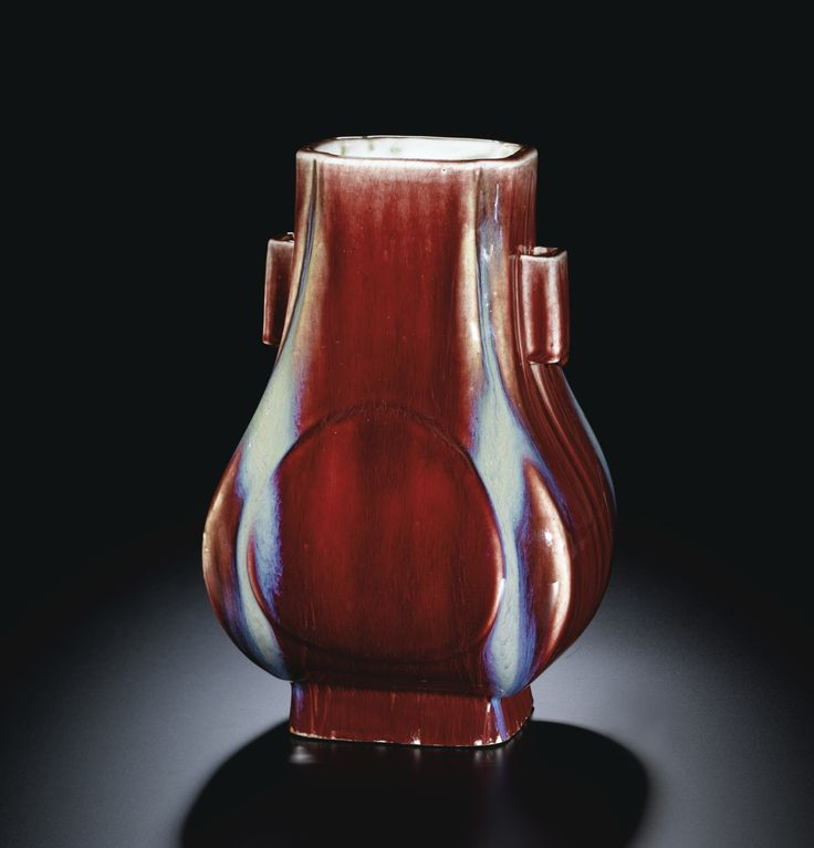 A FLAMBE-GLAZED VASE, FANGHU<br>INCISED SEAL MARK AND PERIOD OF QIANLONG | Lot | Sotheby's