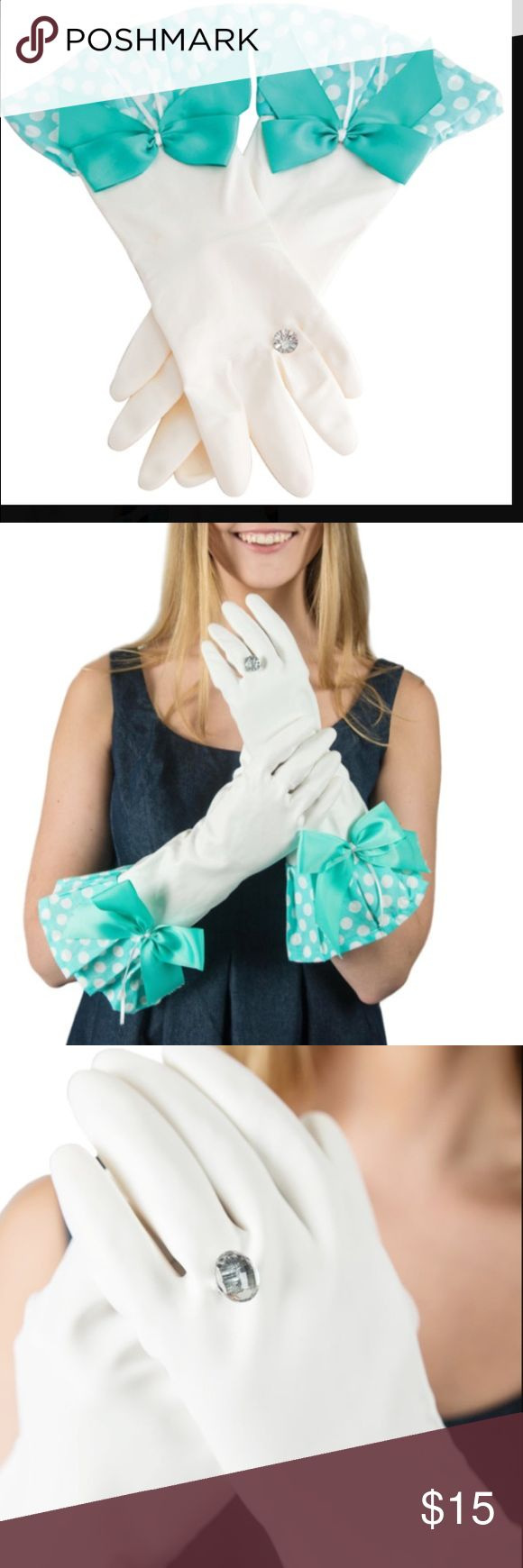 White gloves apron cleaning services - Bling Bling Glamour Dishwashing Gloves For The Bride To Be New In Wrapper