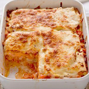 Recept - Lasagne met verse en gerookte zalm - Allerhande