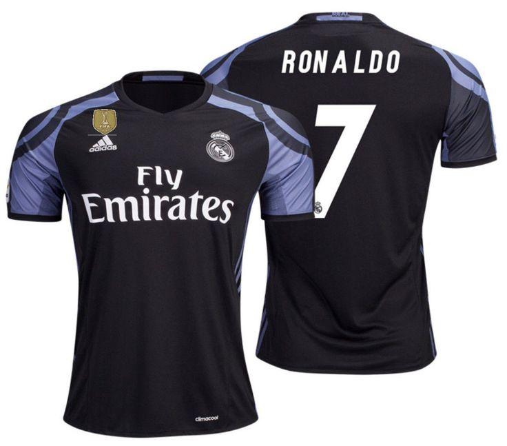 adidas cristiano ronaldo real madrid third jersey 2016 17 cwc fifa patch