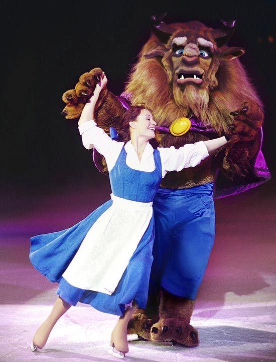 disney on ice <3 that beast suit weight 75 pounds! can you imagine skating in that!