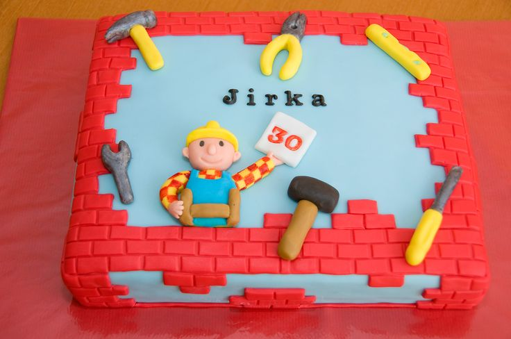 obrázek dortu - dort Bořek stavitel