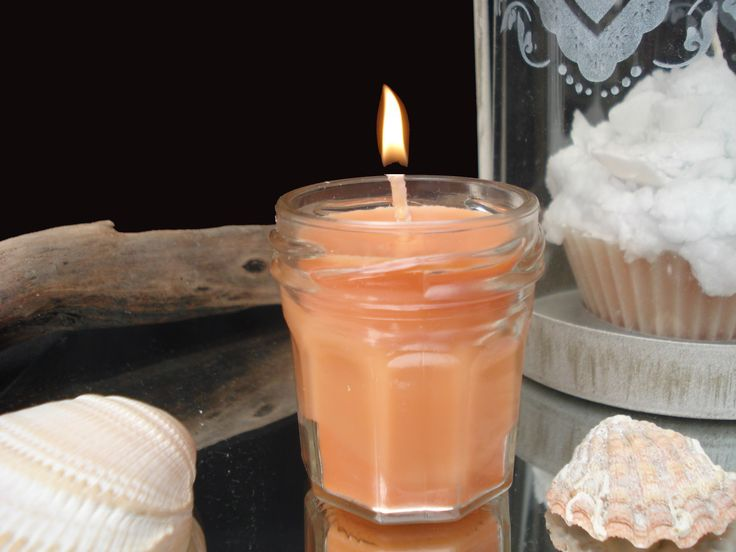 bougie dans un mini pot de confiture 100 soja orange confite orange pots et minis. Black Bedroom Furniture Sets. Home Design Ideas