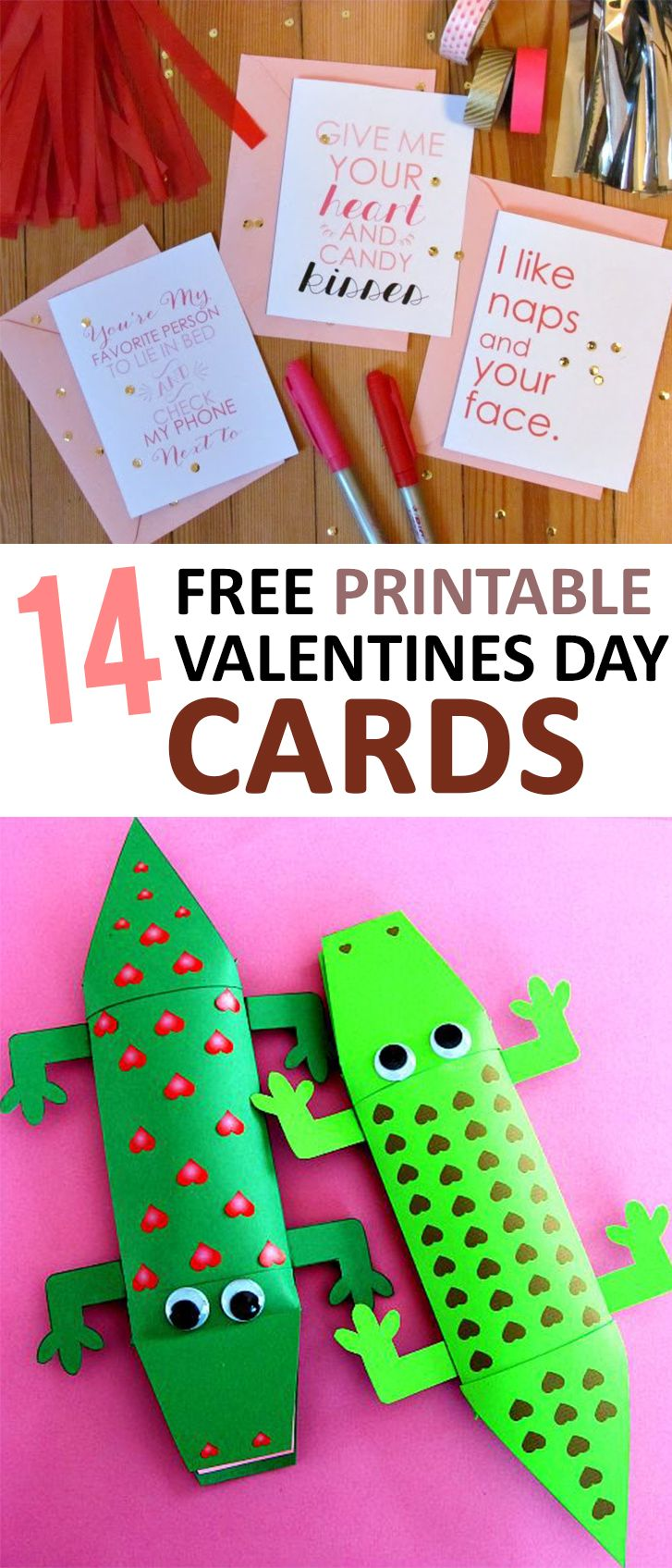14 Free Printable Valentines Day Cards -