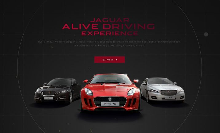 Website Of The Day 16 January 2014 Jaguar Experience by Seah Doyle at NODEPLUS. http://www.cssdesignawards.com/sites/jaguar-experience/24157 The Alive Technology interactive experience from Jaguar China. One single version of HTML5 Canvas multi-platform website.