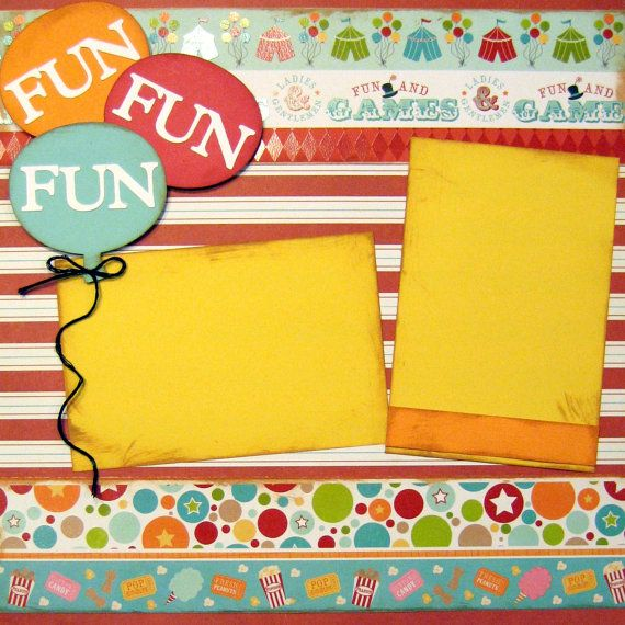 Scrapbooking Layout Carnival Game Park Circus Fair by upinthenight