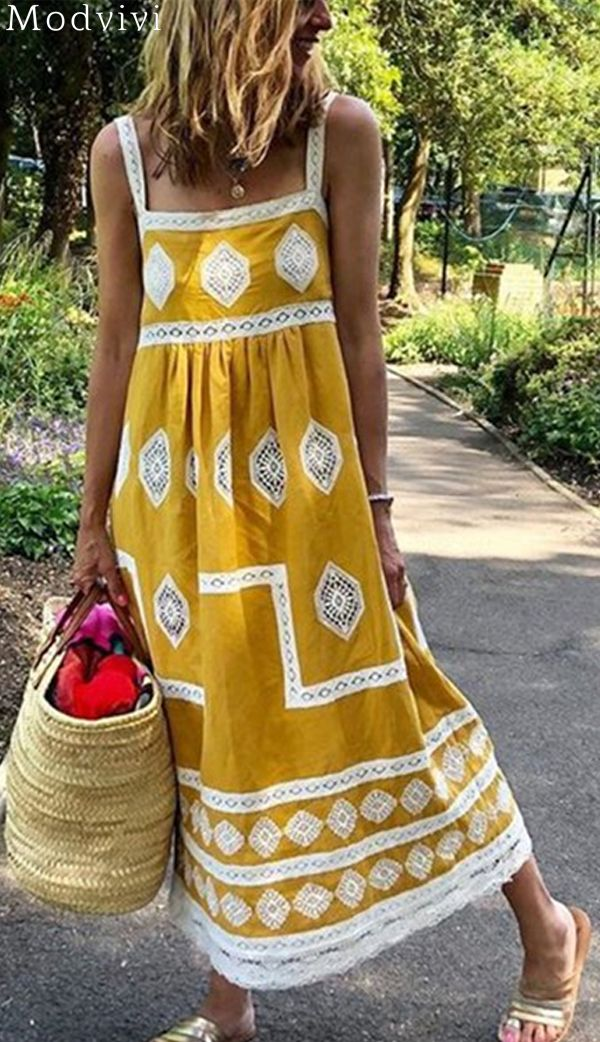 Shop Now> 600+ Sold, Bohemian Printed Maxi Dress #summer #ootd