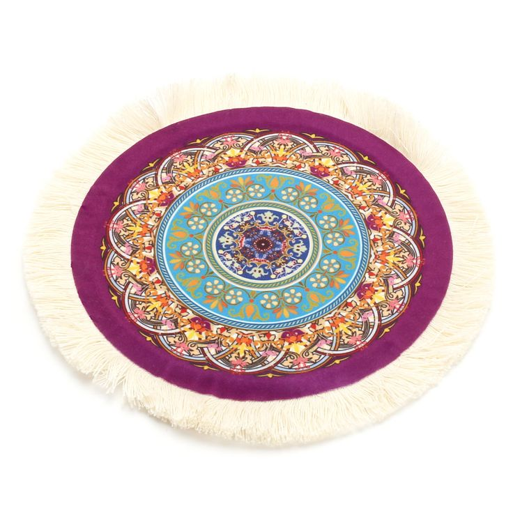23cm/9\'\' Bohemia Style Persian Stylish Rug Mat Round Mouse Pad for PC Computer