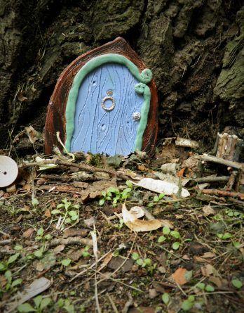 Gliniane drzwi, elfy, bajkowe