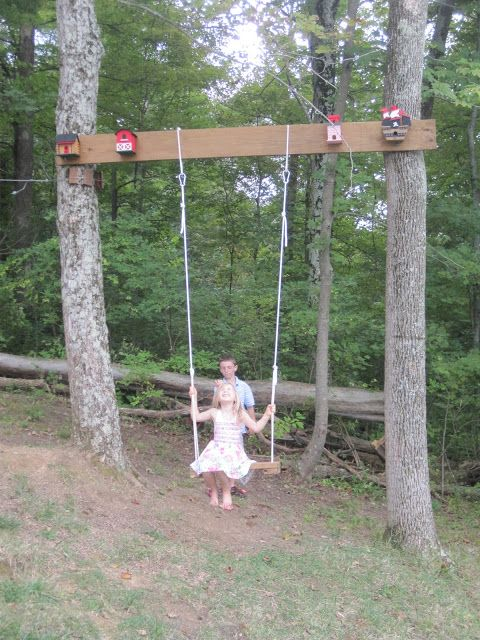 tree swing for tree without branches