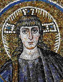 Cappella del Palazzo Arcivescovile, Ravenna. Mosaici della fine del V - inizio del VI secolo. Periodo teodoriciano. CRISTO